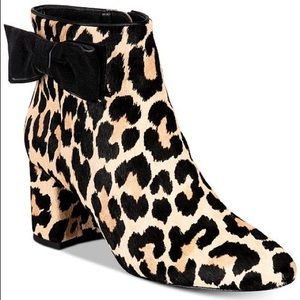 kate spade Shoes - NEW Kate Spade Holly Leopard Calf Hair Booties 6